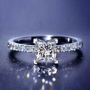 Simple S925 Sterling Silver Engagement Ring